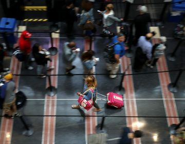 Viruses thrive in the security lines at airports, according to several studies. (Chip Somodevilla/Getty Images)