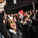 A woman shouts slogans during the Women's March in New York City, January 20, 2018, as protestors took to the streets en masse across the United States. (Kena Betancur/AFP/Getty Images)