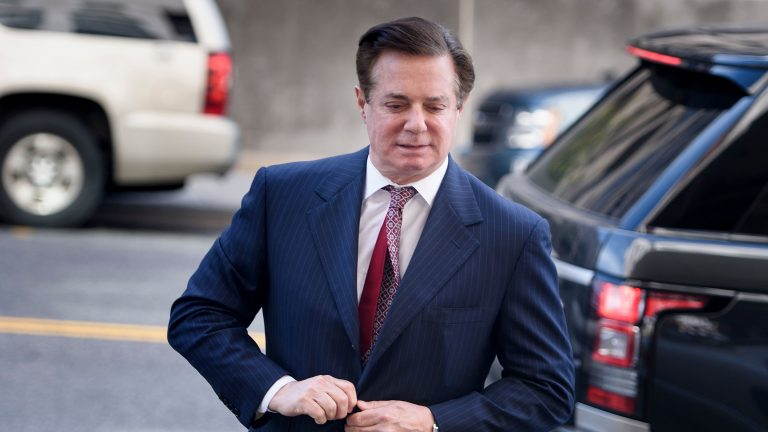 Paul Manafort arrived for a hearing at District Court in Washington, D.C. He will not go on trial after all after having reached a plea agreement with the Justice Department. (Brendan Smialowski/AFP/Getty Images)