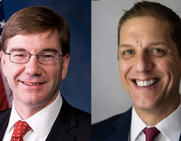 Republican candidates U.S. Rep. Keith Rothfus (left) and Marty Nothstein  are campaigning now without help from a key Republican Super PAC. (rothfus.house.gov and Matt Rourke/AP)