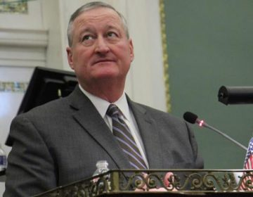 Mayor Kenney speaks at annual budget address. (Emma Lee/WHYY)