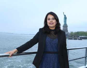 V journalist Neha Mahajan could lose her work permit if the Trump administration ends a special program for the spouses of H-1B guest workers. Gunjesh Desai/Courtesy of Neha Mahajan