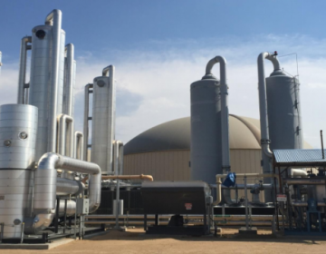 RNG Energy's Heartland biofuel/anaerobic digester in Colorado, similar to the plant proposed for a PES refinery site. (Photo courtesy of RNG Energy)