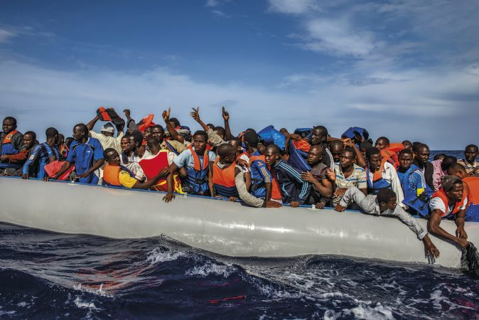 One hundred nine African refugees from Gambia, Mali, Senegal, Ivory Coast, Guinea,