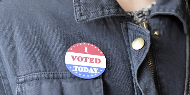 Voters come out in large numbers the moment the polls open at 7:00 A.M. (Bastiaan Slabbers for NewsWorks)