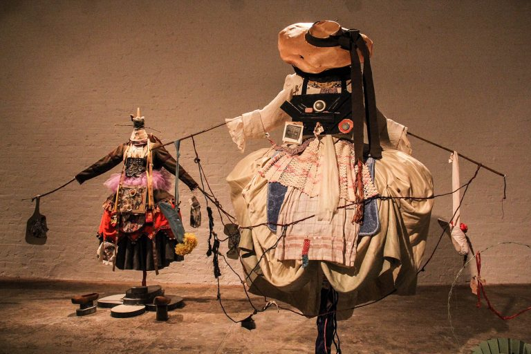 Suzanne Bocanegra's elaborate ballet costumes are part of her exhibit