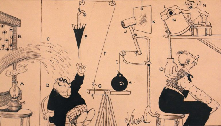 The National Museum of American Jewish History looks at the life of Rube Goldberg. (Courtesy of the National Museum of American Jewish History)