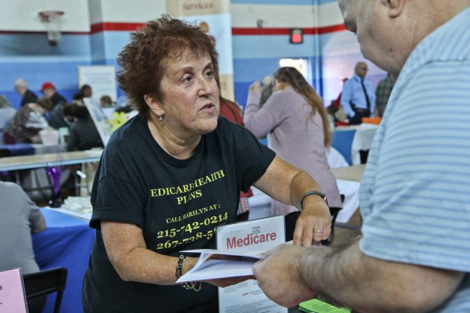 Marilyn Burstin is a benefits specialist, who helps seniors find an appropriate Medicare plan. (Kimberly Paynter/WHYY)
