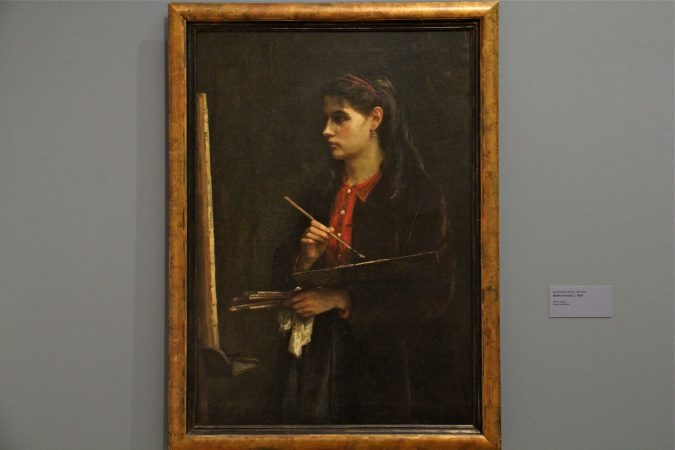Berthe Morisot is depicted in a painting by her sister, Edma Pontillon, in 1865. (Emma Lee/WHYY)