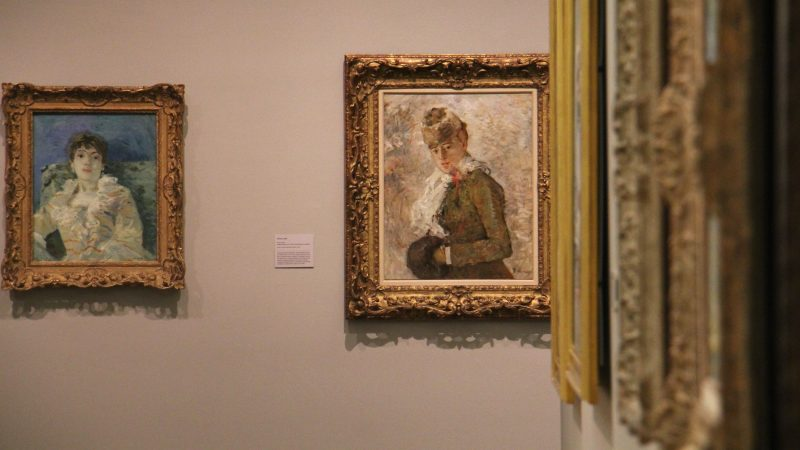 In a series of fashion paintings, Morisot depicts the