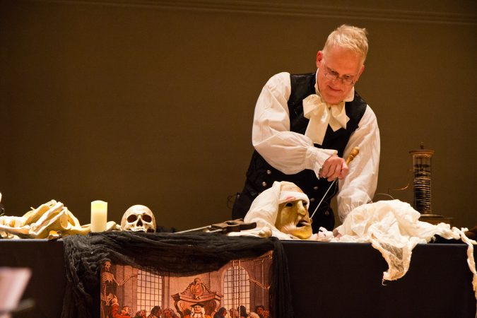Living historian Dean Howarth re-enacts science experiments on corpses that could have inspired Mary Shelley's