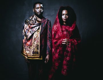 James Jean and Patrice Worthy, photographed in New York City. They model clothing by Ikiré Jones. (Rog Walker for Ikiré Jones)