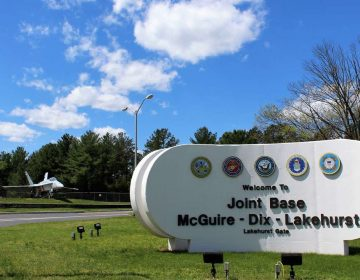 Some of the highest levels of PFAS contamination have been found on military bases like Joint Base McGuire-Dix-Lakehurst, because the chemicals have been used for years in firefighting foam, and persist in groundwater. (Bill Barlow for WHYY)