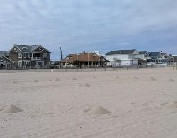 Some of the sand piles on the beach in Point Pleasant Beach. (Photo: Jerry Meaney/Barnegat Bay Island, NJ via Facebook)
