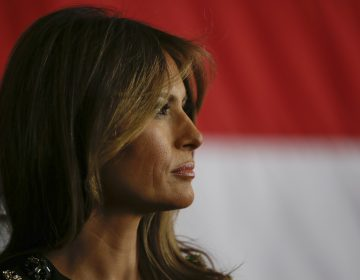 First Lady Melania Trump pictured in this file photo at the Sigonella Naval Air Station, in Sigonella, Italy, Saturday, May 27, 2017. (Luca Bruno/AP Photo)