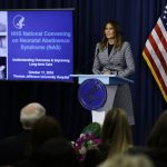 First lady Melania Trump speaks during a visit to Thomas Jefferson University Hospital in Philadelphia, Wednesday, Oct. 17, 2018. (Matt Rourke/AP Photo)