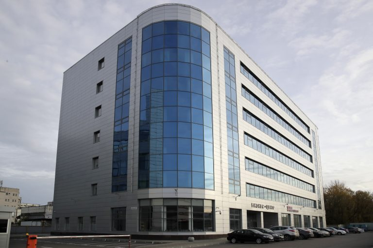 A view of a business centre building known as the so-called
