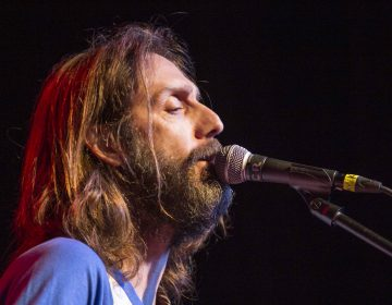 Chris Robinson with Chris Robinson Brotherhood performs at Center Stage on Wednesday, Oct. 29, 2014, in Atlanta. (Photo by Katie Darby/Invision/AP)