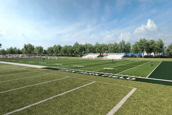 An artist's rendering depicts improvements at Eden Park in Wilmington's Southbridge section.  (Courtesy of the city of Wilmington)