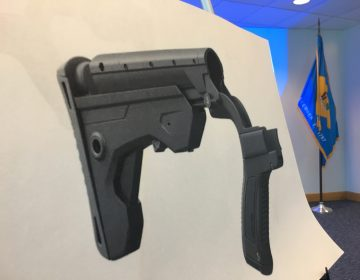 Delaware will buy back bump stocks and trigger cranks after making possession of the gun accessories illegal earlier this year. (Mark Eichmann/WHYY)