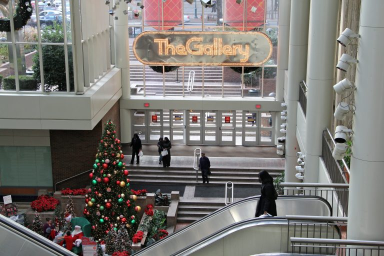 The Gallery mall on Market Street in Center City was once a holiday shopping destination in the Philadelphia region. (Emma Lee/WHYY)