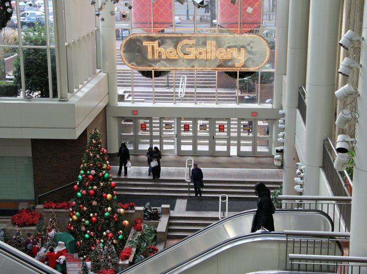 The Gallery mall covered three blocks on Market Street in Philadelphia. (Emma Lee/WHYY)