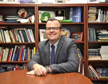 Michael Farrell, principal of Penn Alexander School, has been working to bring a chapter of the national Gay Lesbian and Straight Education Network organization to Philadelphia. (Emma Lee/WHYY)
