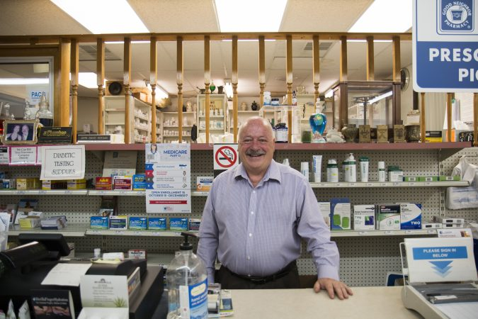 Pharmacist John Keegan has been a stalwart supporter of Barletta, as mayor, as congressman, and now in his bid for U.S. Senate. He says the immigration ordinance was necessary given growing crime. (Jen Kinney/Keystone Crossroads)