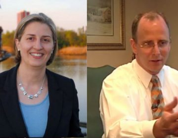 State Sen. Greg Lavelle (right) accuses state escheator Brenda Mayrack of an apparent conflict of interest for her political activity. (File/WHYY)