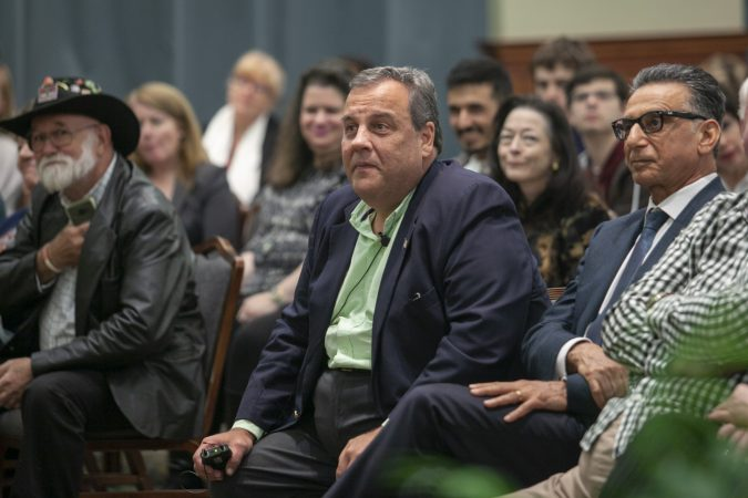 Glassboro, NJ - OCTOBER 18, 2018: Former New Jersey Governor Chris Christie appear for the first time since leaving office at an event titled The Future of the Republican Party at Rowan University. (Miguel Martinez for WHYY)