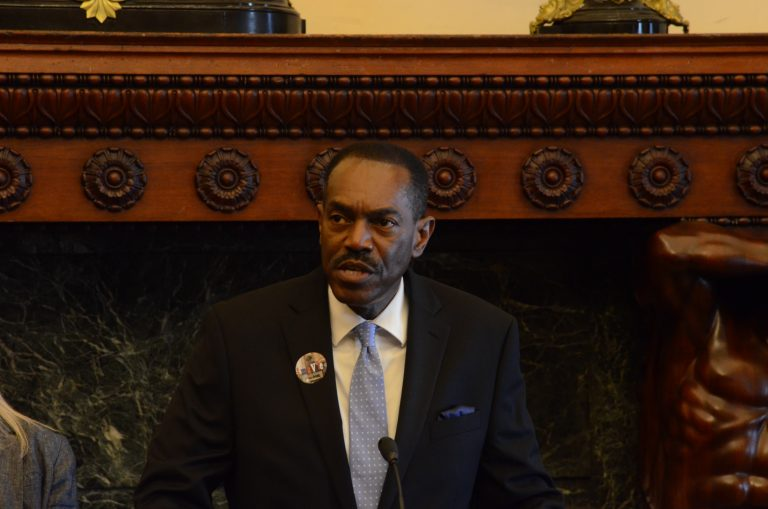Minister Rodney Muhammad of the NAACP's Philadelphia branch says the organization wants all voters to be heard. (Tom MacDonald, WHYY)