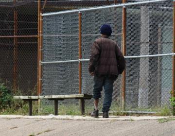 A man walks in North Philadelphia on Friday (Abdul Sulayman/The Philadelphia Tribune)