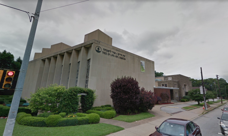 Tree of Life Synagogue in Pittsburgh, Pa. (Google Maps)