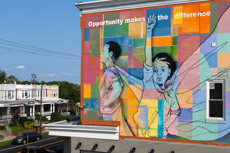 Trades for a Difference (Photo Courtesy/Steve Weinik for Mural Arts Philadelphia)