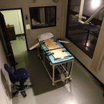 In this Nov. 20, 2008, file photo, the execution chamber at the Washington State Penitentiary is shown with the witness gallery behind glass at right, in Walla Walla, Wash. Washington state's Supreme Court has ruled that the death penalty violates its Constitution. The ruling Thursday, Oct. 11, 2018, made Washington the latest state to do away with capital punishment. They ordered that people currently on death row have their sentences converted to life in prison. (Ted S. Warren/AP Photo, File)