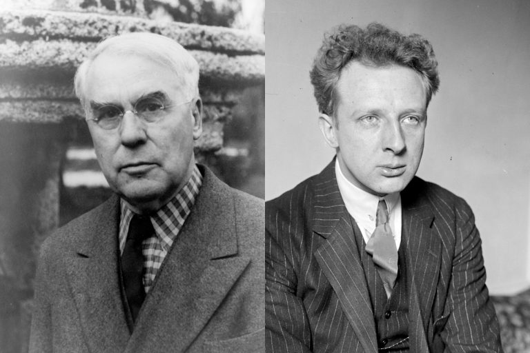Philadelphia Orchestra's two-week Barnes/Stokowski Festival explores the contentious relationship between art collector Albert Barnes (left) and conductor Leopold Stokowski (right). (Library of Congress)