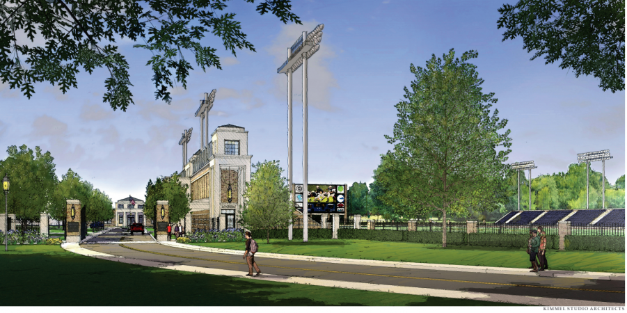 An artist's rendering shows what a renovated Baynard Stadium would look like following $15 million to $20 million in upgrades. (Courtesy of the city of Wilmington)