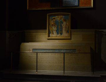 The Shrine of Mother Katherine Drexel at her home in Center City (Tom MacDonald/WHYY)