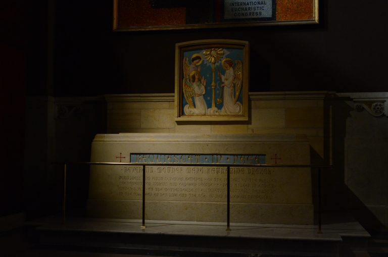 The Shrine of Mother Katherine Drexel at her new home in Center City (Tom MacDonald/WHYY)