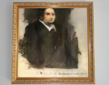 Edmond de Belamy, created using artificial intelligence, will be auctioned at Christie's on Thursday. (Christie's Images)
