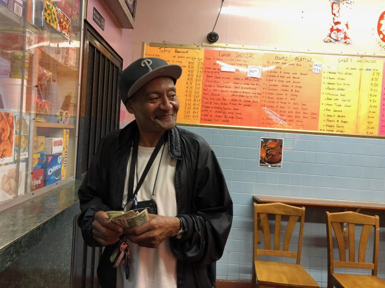George Walker works in West Philadelphia and eats regularly at a range of Chinese takeout places in the neighborhood.  (Nina Feldman/WHYY)