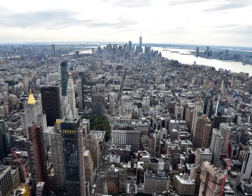 A view of New York City from the Empire State Building on Tuesday. The city just had its first weekend without a single shooting in at least 25 years. (Theo Wargo/Getty Images)