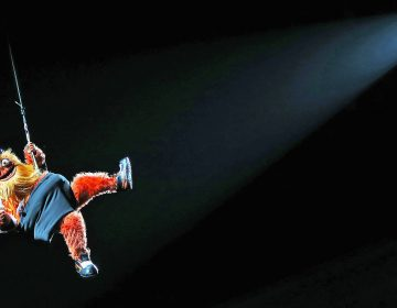 Even rappelling from the rafters of the Philadelphia Flyers' arena, swinging to the tender tuneful power of Miley Cyrus'
