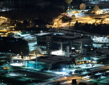 A helicopter view of the National Security Agency in Fort Meade, Md., in 2016. (Brendan Smialowski/AFP/Getty Images)