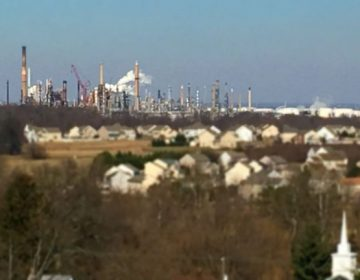 Three workers were burned, one critically, in an accident at the Delaware City oil refinery. (WHYY, file)