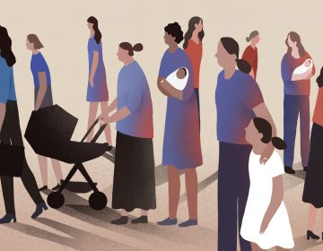 Among female voters, marriage has long been an indicator that a woman was more likely to support Republicans. But that is changing. (Nicole Xu for NPR)