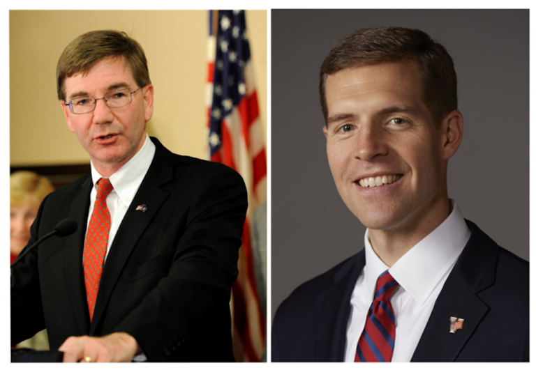 Republican U.S. Rep. Keith Rothfus (left) has served Pennsylvania's 12th Congressional District for three terms. Democratic U.S. Rep. Conor Lamb has represented the 18th District since April 2018. (Don Wright/AP, Conor Lamb for Congress)
