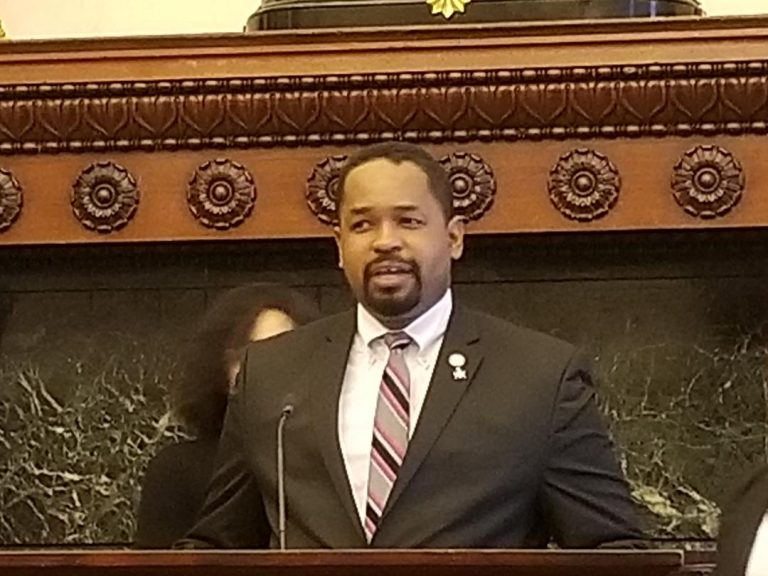 State Sen. Sharif Street, D-Philadelphia, says he wants to make sure the growing cannabis industry offers opportunity for all. (Tom MacDonald/WHYY)