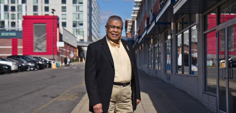 Wendell Whitlock is the Board Chairman Emeritus of Sullivan Progress Plaza. (Kimberly Paynter/WHYY)