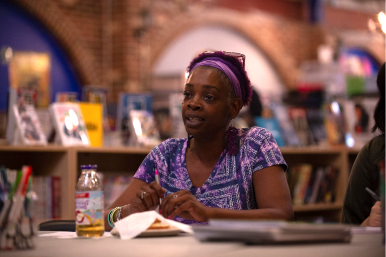 Yolonda Johnson-Young earned a scholarship from the Scribe Video Center, the same place that her late son also took classes. (Photo courtesy of Kriston Bethel)